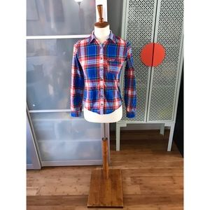 Hollister Plaid Button Up Long Sleeve Flannel